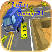 ZigZag Car Racing : Cute Cartoon Race 3d Free Fun Game