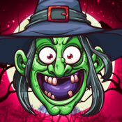Wicked Puzzle Hex Line Up - FREE - Spooky Witch Lair Slide And Match match your deck