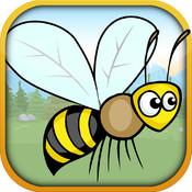Dizzy Flying Bee Maze - Balloon Avoider Mania