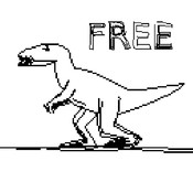 JVGS Free HD - Stickman Running Game in a World of Dinosaurs & Time Travel!