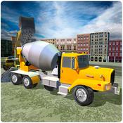 Concrete Excavator Tractor 3D