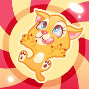 Kitty in Candyland Jump & Tilt - Cute Jumping Cat Platform Crush Game