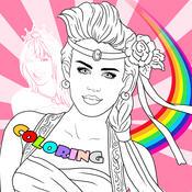 Princess Coloring Game - Change the Super Star to Princess and Fairies princess