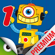 Robots & Numbers - games to learn numbers and practice counting, sums & basic maths for kids and toddlers point numbers