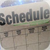 Schedule. schedule