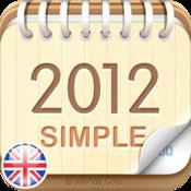 2012 UK Calendar : Simple 3d max2008 calendar