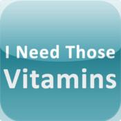 I Need Those Vitamins