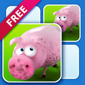 3D Animated Puzzle for kids ( match animated pictures of sheep, dog, chicken, pig, saw, hammer and more) animated