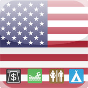 Leisuremap USA, Camping, Golf, Swimming, Car parks, and more