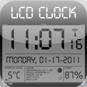 LCD Wallclock+Weather