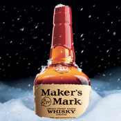 Maker`s Mark Snow Globe