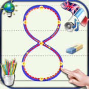 Write numbers from 0 to 9 for children for iPhone and iPod - Learn to count with sounds of numbers in English and French