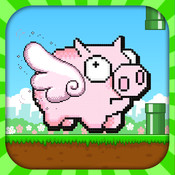 Flying Farting Smashy PIG - Clappy Brave piggy-bird flap again stornger when ever