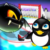 Penguins Ice Kingdom : Puffy Fluffy Air Hockey League penguins game