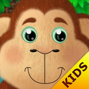Kids Academy • 5 Little Monkeys jumping on the bed HD. Interactive Nursery Rhyme and fun music educational app.