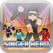 The Singer Hero Microphone - Block Craft World Edition