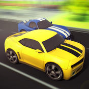 3D Traffic Toon Racer : Hi Speed Real Escape Racing Rivals in City Road Pro racer road speed
