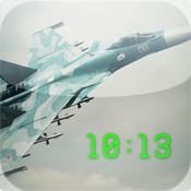 Aircraft Photo Clock (Featuring art from ACE COMBAT ASSAULT HORIZON)