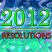 A 2012 Resolutions App - Plus Inspirational & Motivational Thoughts