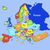 An Europe Puzzle Map