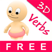 Baby Hear & Read Verbs Lite - See, Listen and Spell with 3D Animals for Free - Best Game and Top Fun for Kids