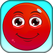 Red Jumpy Bounce King Ball - Jump Game to pass time and kill time in toilet