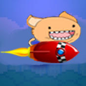 Flappy Rocket Cat - he`s got a rocket to go after the bird!