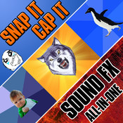 Meme Maker + Snap It Cap It + Sound FX All-In-One (3 App Combo Pack)
