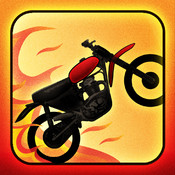 A Motorcycle Bike Race Fire Chase - Free hill climb racing