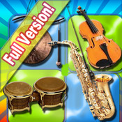 Musical Flash Cards - Music Instruments , images sounds and words for children HD