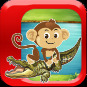 Monkey Survival Jump Saga - A Swamp Gator Escape Adventure