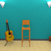 Room Escape Games: in `Guitar Room` HD teenage room theme