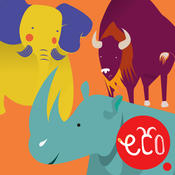Storybook for Kids: Elephant, Rhino and Buffalo - The Animal Adventure for Children