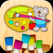 Color and paint drawings – Coloring book – Finger paint game – Coloring and painting for free