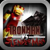Ironman vs Slenderman - Minecraft Style Edition