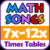 Math Songs: Times Tables 7x - 12x HD