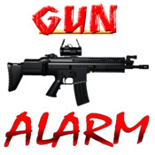 A Gun ALARM Clock for iPhone - Wake up to Loud Visual Rifles and Machine Guns Firing