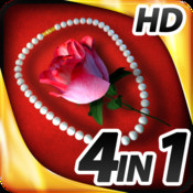 Hidden Objects - 4 in 1 - Romance Pack HD edition