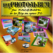 myPhotoAlbum for Facebook or to flip on PC by WIFI