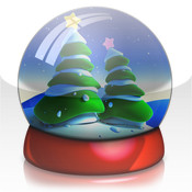 Christmas Snowglobe Happy Holidays