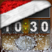 Flip Clock + radio, christmas edition