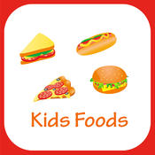 Food Items Learning For Kids Using Flashcards and Sounds-A toddler educational learning app