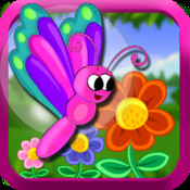 Flutter Garden - Tap Butterfly to catch flowers (free game)