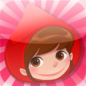 Game for children about little red riding hood: Games and puzzles for kindergarten, preschool or nursery school. Learn with girl, red cape, basket, wolf, grandmother, hunter in the forest!