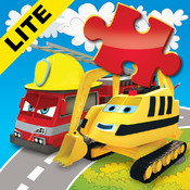Happy Bernard`s puzzles for kids. Urban vehicles and building machines. Lite