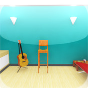 Room Escape Games: in `Guitar Room` teenage room theme