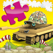 Happy Bernard`s puzzles for kids. Urban vehicles and building machines.