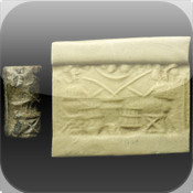 Mesopotamian Cylinder Seal cylinder and slide