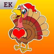 Emoji Kingdom - Christmas Turkey Emoticons emoticon sticker translator