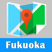 Japan Fukuoka offline map and travel city 2go guide by Beetle Trip